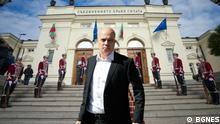 Slavi Trifonov von der Partei Es gib so ein Volk (ITN), die die gestrigen Wahlen in Bulgarien gewonnen hat. ***Die Bilder sind von dem offiziellen Partner BGNES ohne Einschränkung zur Verfügung stellt.
