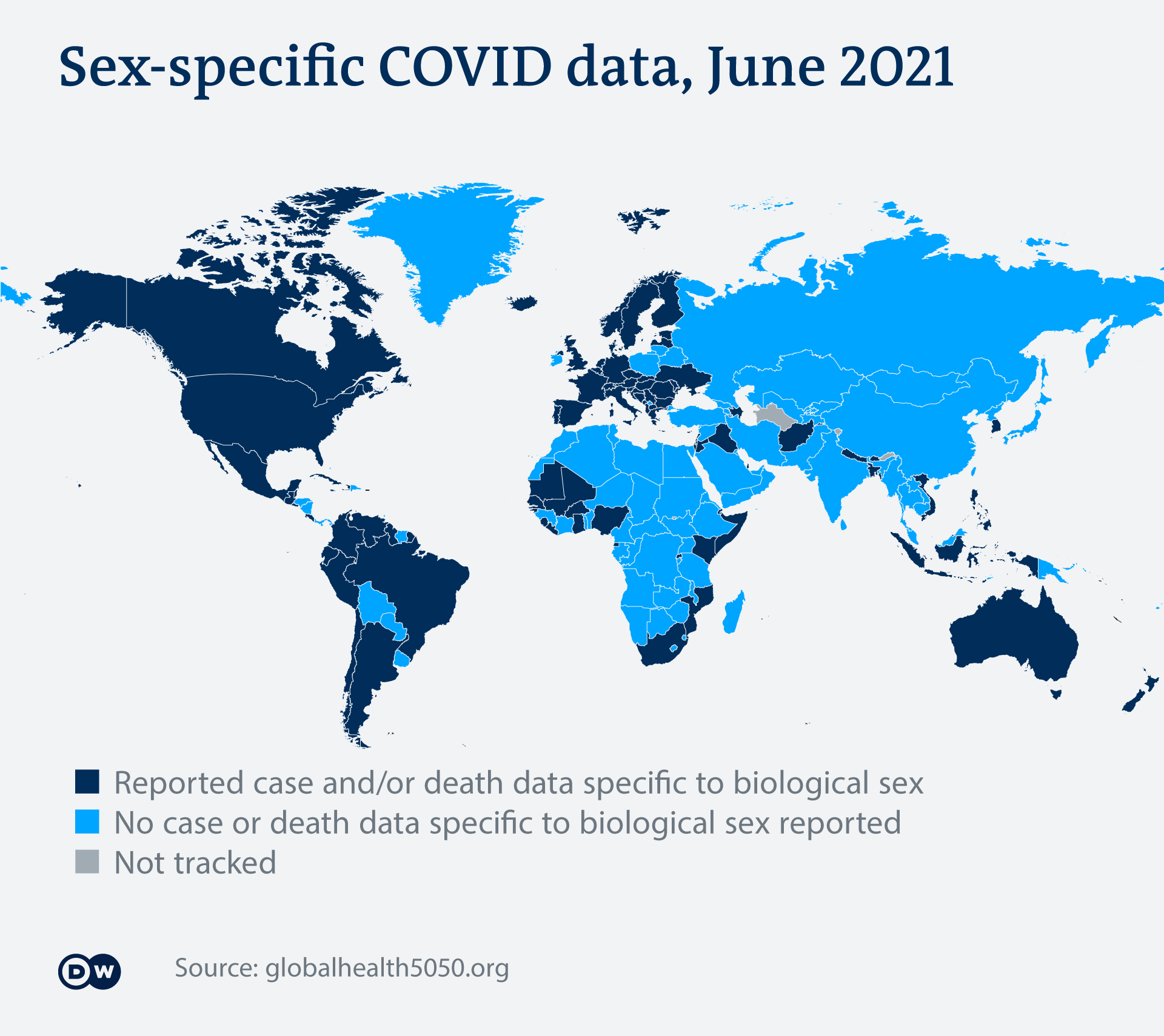 Infografik Gender COVID world map EN