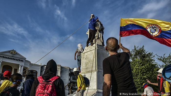 Estatua de Colón en Barranquilla.