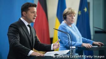 Зеленський і Меркель в Берліні, липень 2021 року