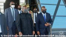 Fotos vom Besuch des Präsidenten der Republik Burundi Evariste Ndayishimiye in Kinshasa in das CMS einzustellen. Er wurde an diesem Montag, 12. Juli, auf dem internationalen Flughafen N'djili vom kongolesischen Premierminister Jean Michel SAMA LUKONDE
