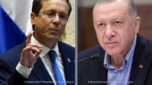 Kombo-Bild Isaac Herzog und Recep Tayyip Erdoğan