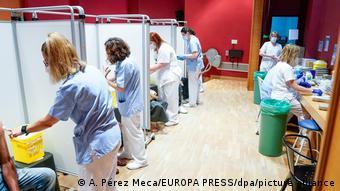 Νοσοκομείο, εμβολιασμός, Μαδρίτη