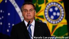 15.06.2021 / O presidente Jair Bolsonaro durante cerimônia de assinatura de acordo com os EUA para participar do Programa Lunar Nasa Artemis.
