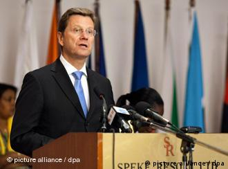 Westerwelle addressing the AU in Kampala