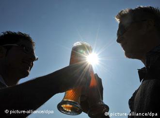 Two Germans drinking beer