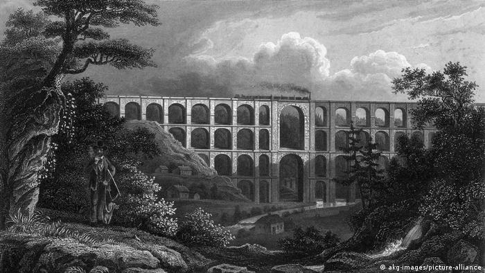 Мост Гёльчтальбрюкке на гравюре 1851 года