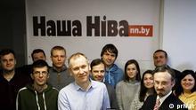 Journalisten und Direktorin des weißrussischen Portals Nascha Niwa Anastasija Rowdo.