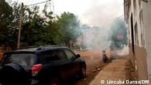 14.07.2021 Polizei setzt Tränengas gegen Demonstranten in Bissau, Guinea-Bissau, ein.