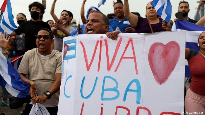 US Kuba Proteste in Miami