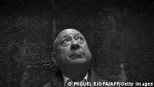 French artist Christian Boltanski poses during the presentation of the exhibition On the road in Santiago de Compostela on June 26, 2014. AFP PHOTO / MIGUEL RIOPA (Photo by Miguel RIOPA / AFP) (Photo by MIGUEL RIOPA/AFP via Getty Images)