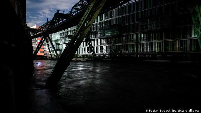 Kondisi ketinggian air di sungai di Wupptertal