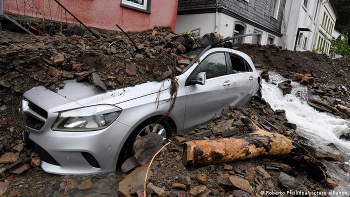 बेल्जियम और जर्मनी में बाढ़