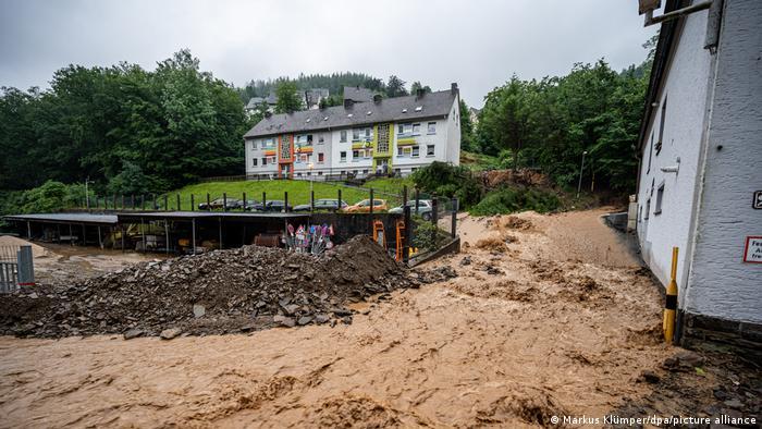 Altena w Nadrenii Północnej-Westfalii: osunięcia ziemi