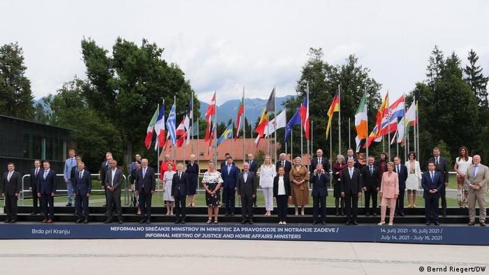 Slowenien | EU-Innemministertreffen | Gruppenbild