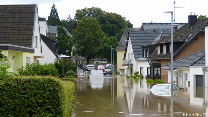 Several houses under water in Heimerzheim