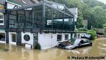 15.07.2021 Überschwemmungen im Stadtteil Unterburg in Solingen.