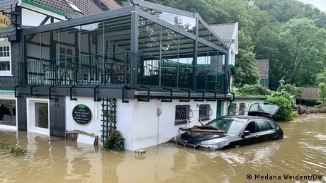 Zona Burg, din orașul Solingen, a fost puternic afectată de inundații