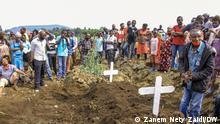 Friedhof von Makao, in der Nähe von Goma (Demokratische Republik Kongo)