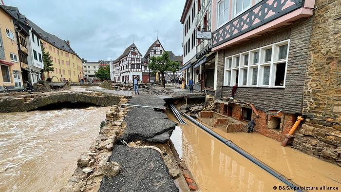En el centro de la ciudad de Bad Münstereifel, Renania del Norte-Westfalia.