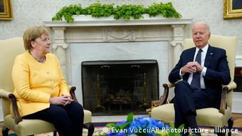 Ангела Меркель и Джо Байден 15 июля 2021 в Вашингтоне