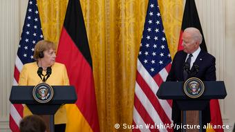 Merkel durante su reciente visita a Estados Unidos.