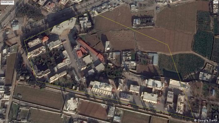 Google Earth screenshot of Jaish al-Islam's security complex