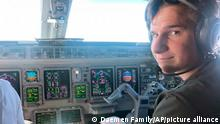 This 2021 photo provided by his family shows Oliver Daemen in an airplane cockpit. The 18-year-old from the Netherlands is about to become the youngest person in space. Blue Origin announced Thursday, July 15, 2021, that the teenager will be traveling on the July 20 launch in West Texas. (Daemen Family via AP)