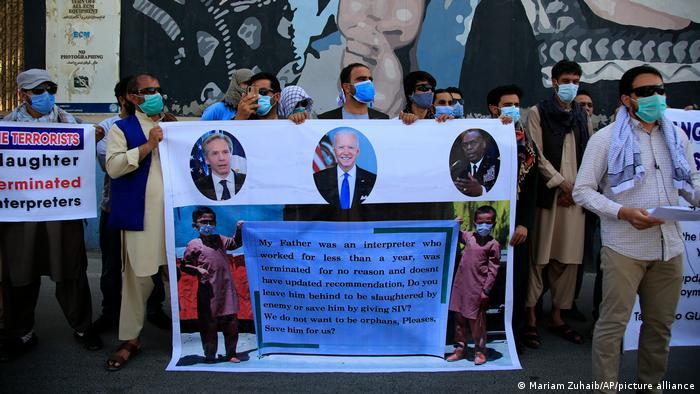 Afghanistan | Demonstration gegen die US Regierung vor US Botschaft in Kabul