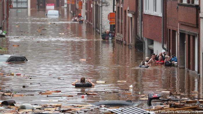 Weltspiegel | Liege, Belgien | Schwere Überschwemmungen nach Unwetter