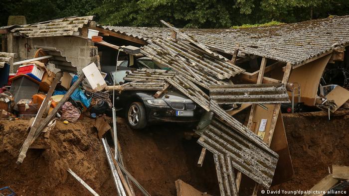 Deutschland Unwetter Schäden Erftstadt Blessem