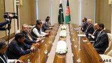 16.07.2021 Pakistn Prime minester Imran Khan with Afghan presedent Ashraf Ghani during todays visit in Uzbekistans capital, Tashkent city.