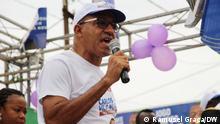 São Tomé und Príncipe Präsidentschaftswahlkampf 2021. Carlos Vila Nova: Candidate and President of São Tomé and Príncipe. Photo: Ramusel Graça/DW 15.7.2021