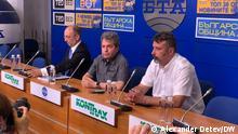 Bulgarien Sofia | Pressekonferenz der Partei Es gibt so ein Volk / ITN