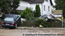 RHINELAND PALATINATE, GERMANY - JULY 16: A view of devastated area after a severe rainstorm and flash floods hit western states of Rhineland-Palatinate and North Rhine-Westphalia, on July 16, 2021, in Ahrweiler and Sinzig districts of Rhineland-Palatinate, Germany. The death toll from Germany's worst floods in more than 200 years rose to 103. Search and rescue works continue in the area. Abdulhamid Hosbas / Anadolu Agency