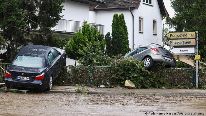 A view of devastated area after a severe rainstorm and flash floods hit western states of Rhineland-Palatinate and North Rhine-Westphalia