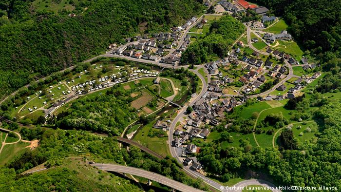 Aerial view of Altenahr in Rhineland-Palatinate, before the town was affected by flooding