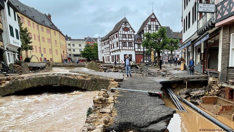 Deutschland Unwetter Bad Münstereifel nachher