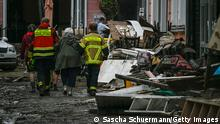 BAD NEUENAHR, GERMANY - JULY 16: Streets and residences damaged by the flooding of the Ahr River are seen on July 16, 2021 in Bad Neuenahr - Ahrweiler, Germany. (Photo by Sascha Schuermann/Getty Images)