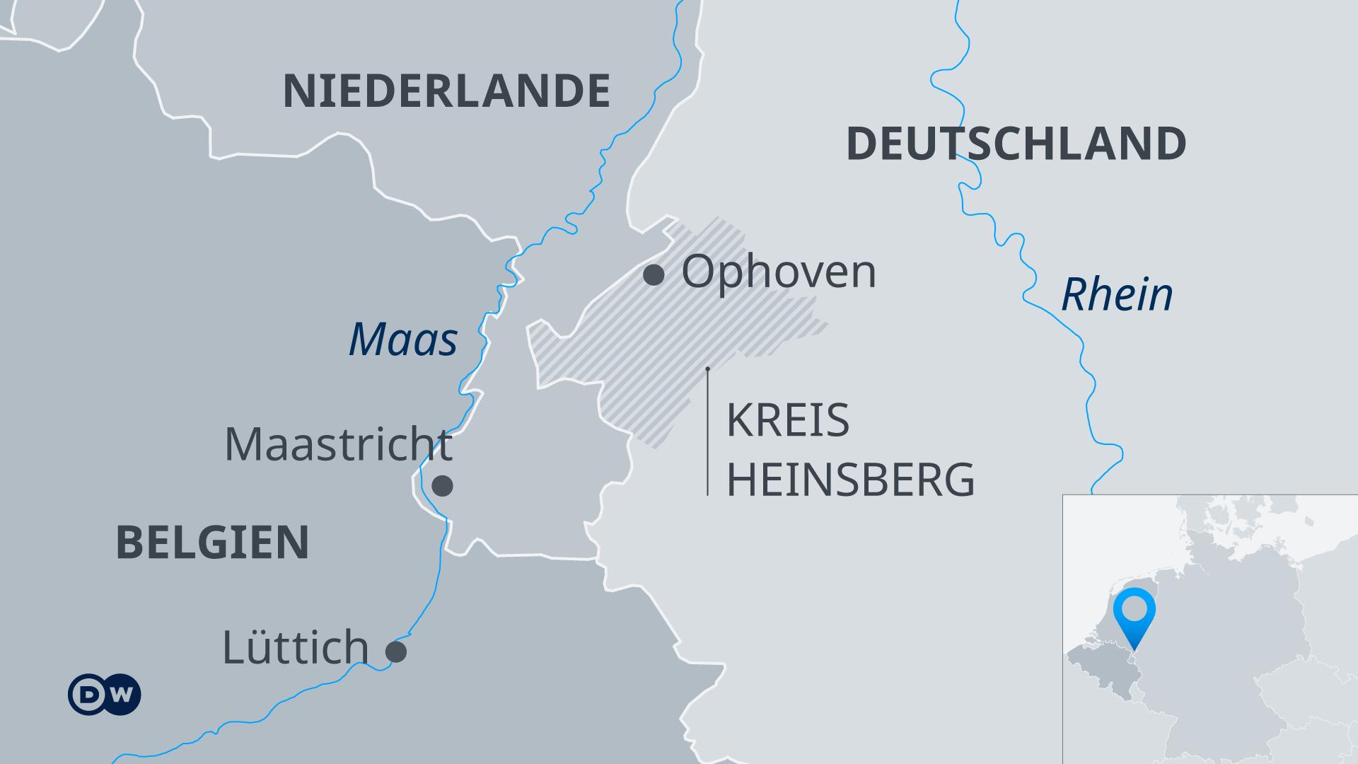 Infografik Karte Überschwemmungen Deutschland, Niederlande, Belgien 2021 DE