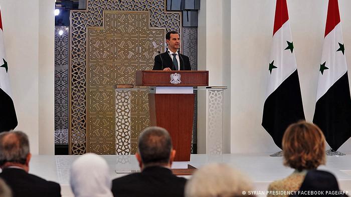 Al Assad, durante su discurso.