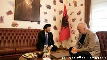 Albanien, Montenegro Deputy Prime Minister Dritan Abazović visits Tirana. Montenegro Deputy Prime Minister Dritan Abazović 's meeting with Albana Prime Minister, Edi Rama.