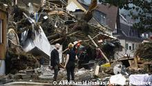 RHINELAND-PALATINATE, GERMANY - JULY 17: A view flood damaged area in Altenahr, Germany after a severe rainstorm and flash floods hit western states of Rhineland-Palatinate and North Rhine-Westphalia, on July 17, 2021. The death toll from Germany's worst floods in more than 200 years rose to 133. Search and rescue works continue in the area. Abdulhamid Hosbas / Anadolu Agency