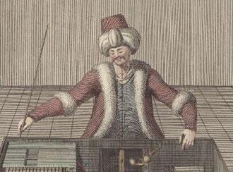 ''Шахматный турок'' на старинной гравюре