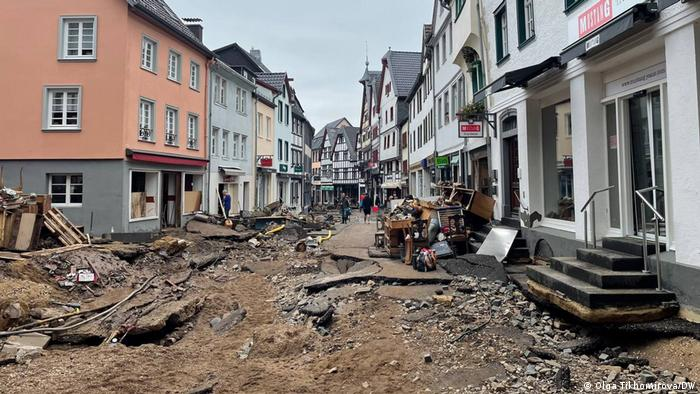 Центр Зінцига зазнав серйозної руйнації