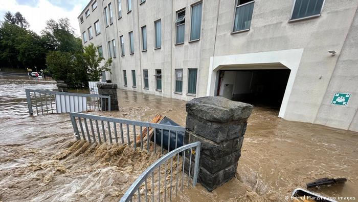 Наводнение в баварском городе Зельбиц