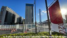 July 18, 2021, Tokyo, Japan: A metal fence can be seen near the main entrance to the Tokyo Olympic village on Sunday, July 18, 2021. According to local media reports, Tokyo Olympic Village sees its first case of COVID-19. Japan - ZUMAt55_ 20210718_zap_t55_004 Copyright: xRamiroxAgustinxVargasxTabaresx
