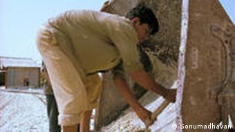 An asbestos mine worker in Andhra Pradesh, India