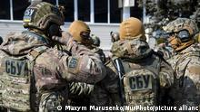 Training of special units of the SBU on the proving ground near Kiev, Ukraine on 24 March 2018. (Photo by Maxym Marusenko/NurPhoto)