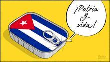 Karikatur von Vladdo. El grito del 11 de julio.
